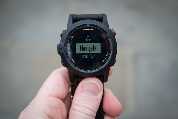 Garmin Fenix2 Navigation