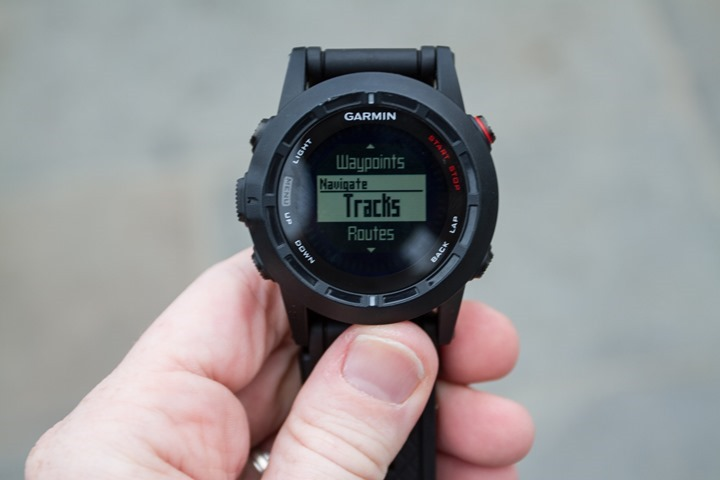 Garmin Fenix2 Track Navigation