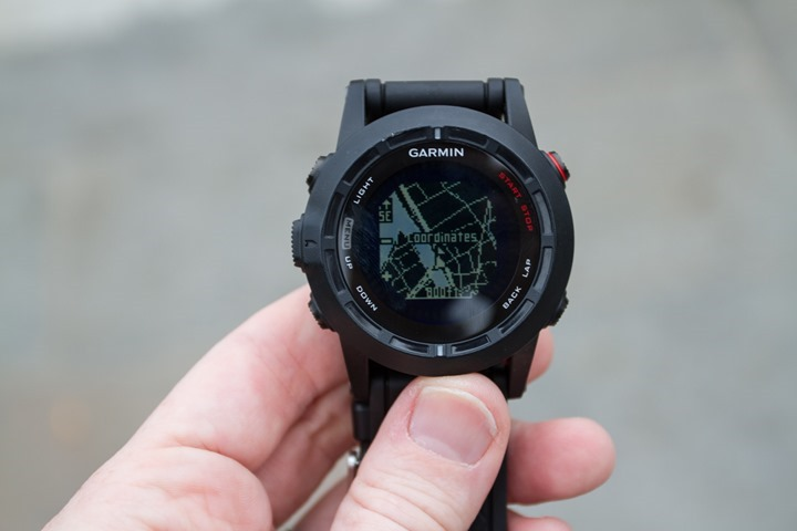 Garmin Fenix2 Navigation Waypoint Map
