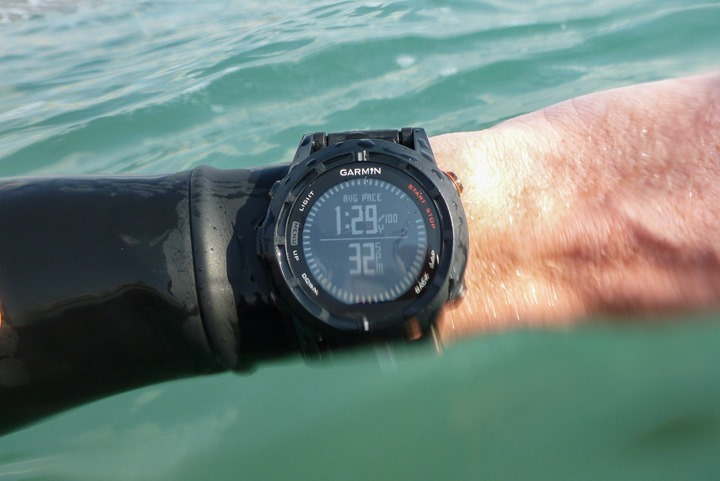 Garmin Fenix2 Openwater Swimming Pace Field