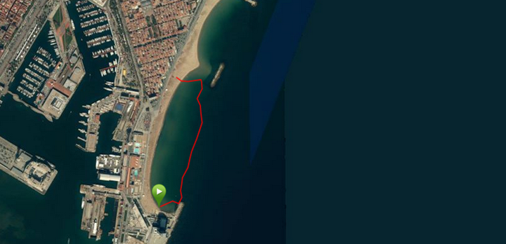 Garmin Fenix2 Openwater Swim Map