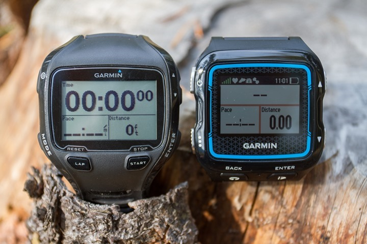 Garmin FR920XT to 910XT size Comparison