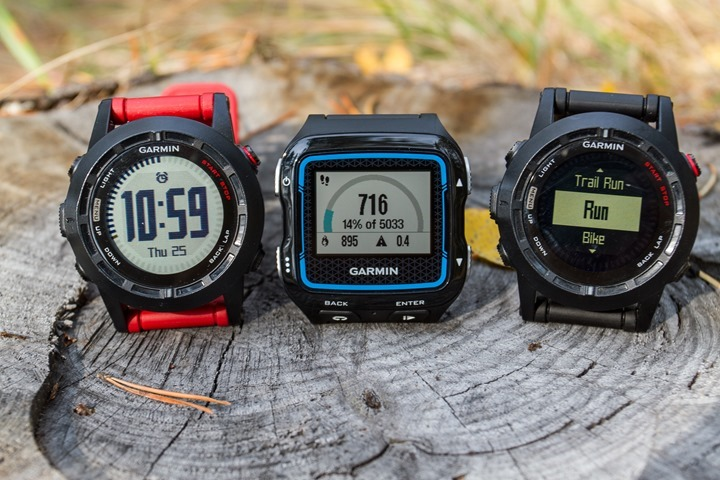 Garmin FR920XT to Fenix2 Size Comparison