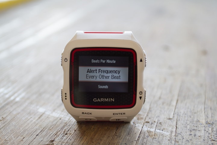 Garmin FR920XT - Alert Frequency