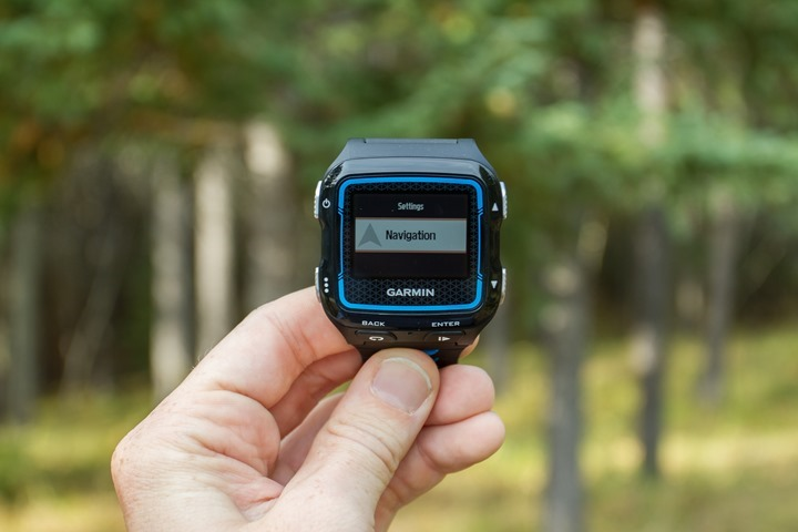 Garmin FR920XT - Navigation Menu