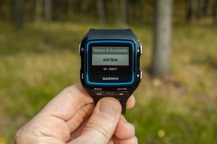 Garmin FR920XT - Add Sensors