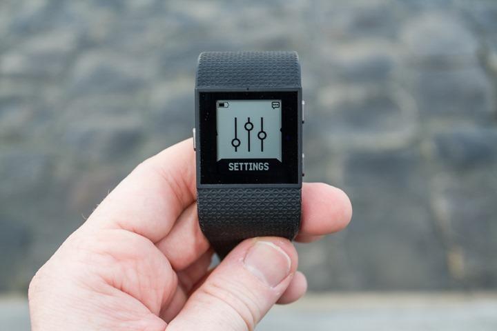 Fitbit-Surge-Settings