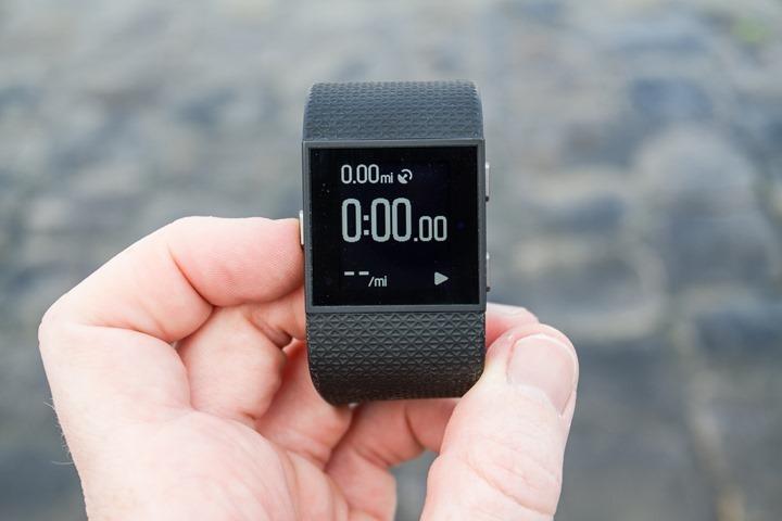 FitbitSurge-GPS-Timer-Starting
