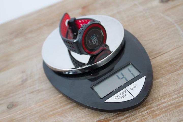 Garmin-FR220-Weight