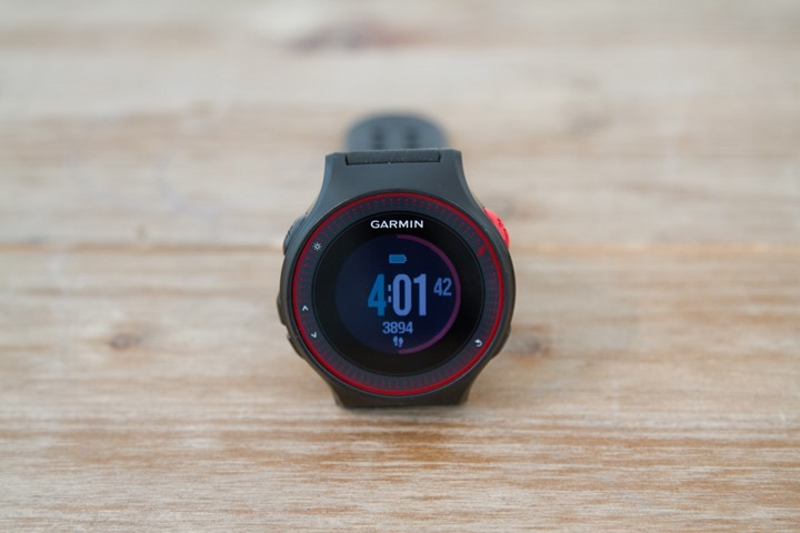 Front of the Garmin Forerunner 225