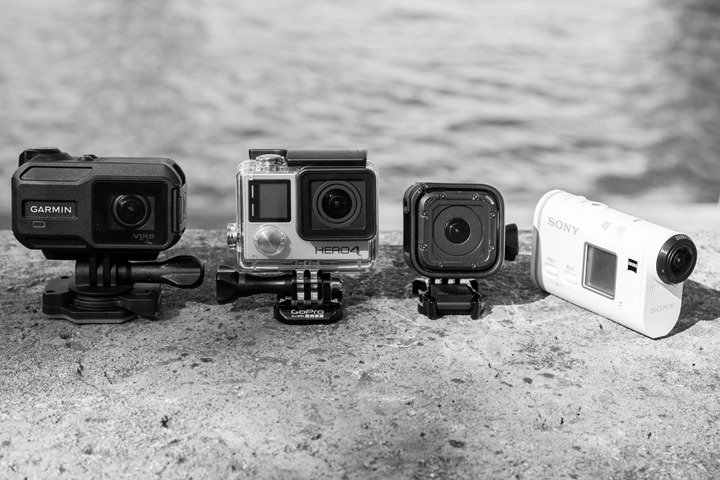 GoPro Hero4 Session Sony VIRB XE Silver