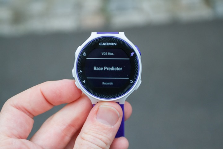 Garmin-FR230-Race-Predictor