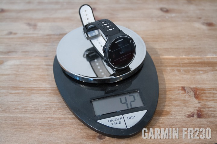 Garmin-FR230-Weight2