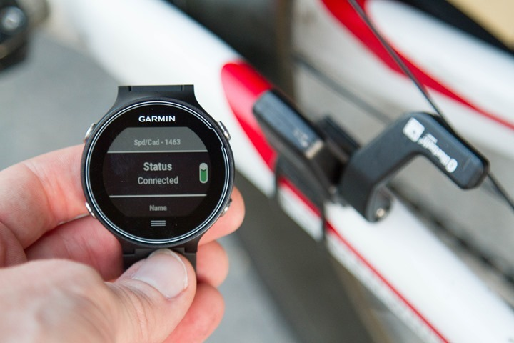 Garmin-FR630-Bike-Sensor-Paired