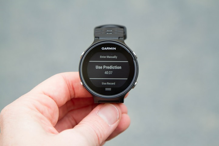 Garmin-FR630-Run-Pacer-Prediction