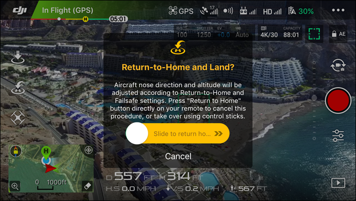Return-To-Home-Option