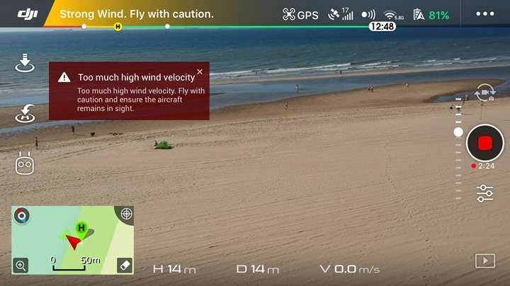 DJI-Spark-High-Wind-Warning