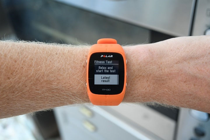 Polar-M430-Fitness-Test