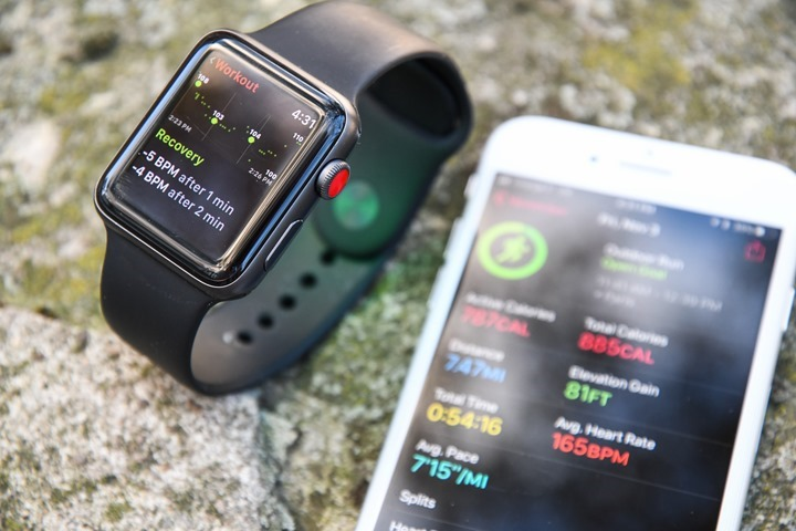 separation shoes 28226 9319f Apple Watch Series 3: Sport & Fitness In-Depth Review | DC Rainmaker