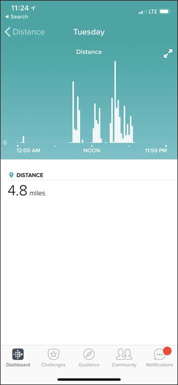 Fitbit-Versa-Distance-Metric