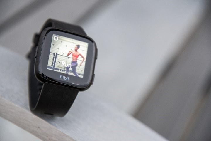 Fitbit-Versa-Lauf-Übung
