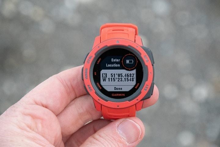 Garmin-Instinct-GPS-Coordinates